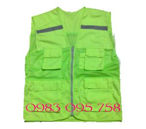 Áo gile túi hộp có phản quang nhiều màu giá rẻ - Bảo hộ lao động Hải Thanh