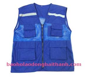 Áo lưới phản quang màu xanh dương mắt nhỏ giá rẻ tại BHLĐ Hải Thanh