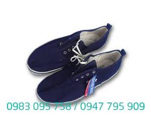 Giày vải Thượng Đình đế kếp màu xanh