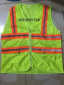 Áo phản quang có 2 túi kéo khóa giá rẻ chất lượng tại Hải Thanh