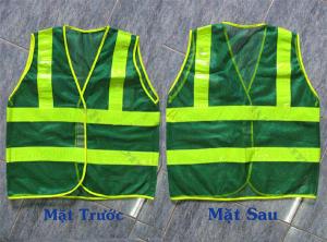 Áo gile lưới màu xanh môi trường giá rẻ tại bảo hộ lao động Hải Thanh