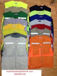 Áo Gile Túi hộp kỹ sư các màu