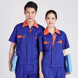 Áo kỹ thuật màu xanh phối cam kéo khóa