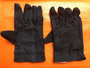 Găng tay vải bò liền