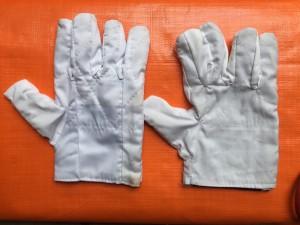 Găng tay vải ka ki trắng