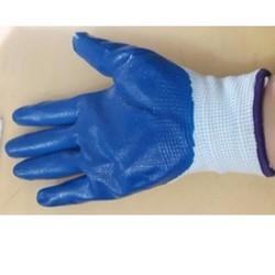 Găng tay sợi phủ sơn xanh